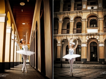 芭蕾舞演员摄影照片